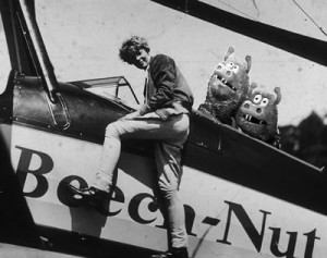 Amelia Earhart didn't fly alone all the time. July 27, 1934