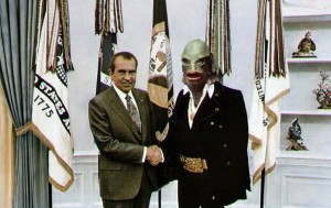 Nixon meets the Creature from the Black Lagoon. July 27, 1970.