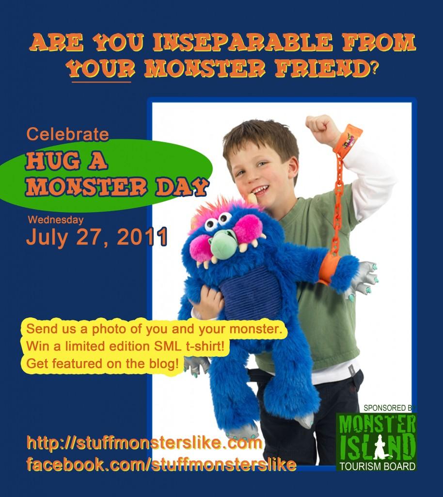 Hug a Monster Day advert