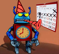 New Year robot