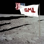 SML flag on the moon