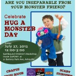 Hug a Monster Day kids advert 2012