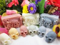 Macabre skull soap Kickstarter by Eden Gorgos