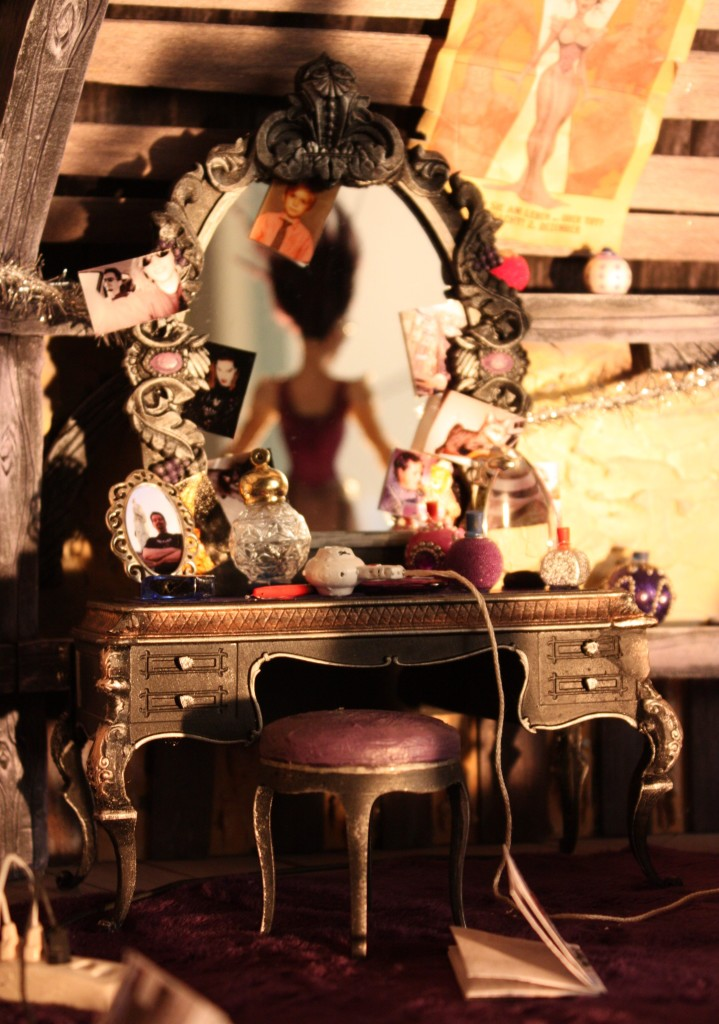 Close-up of the intricate set.