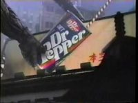 Godzilla likes diet drinks in this vintage Dr Pepper commercial.